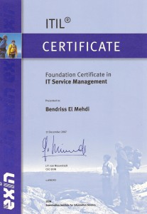 ITIL Fundation Certified